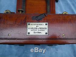 LEJEUNE & PERKEN RAYMENTS PATENT WOOD 1/2 PLATE CAMERA 1880's