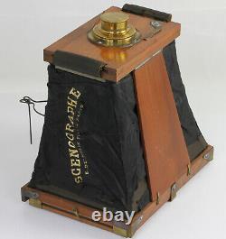 LE SCENOGRAPHE Inventé par le Dr E CANDEZE soufflet en soie noire Paris 1874