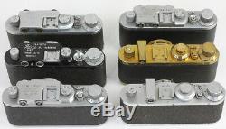 LOT 20 copies russes de LEICA. Fabrication soviétique entre 1960 et 1990 RARE