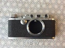 Leica IIIA (3A) sharkskin monté en sarre