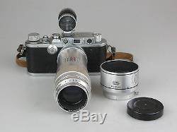 Leitz Leica IIIa #297401 Kamera mit Culminar 4,5/135mm vb041