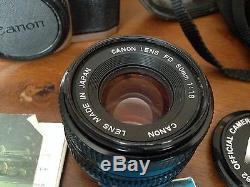 Lot Appareils Photo Canon Un Al-1 Qf, 1 T50 Objectis Flash Valise De Transport