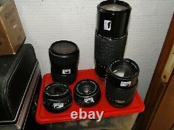 Lot Objectifs Interchangeables Nikon Canon Pentax Fuji Etc