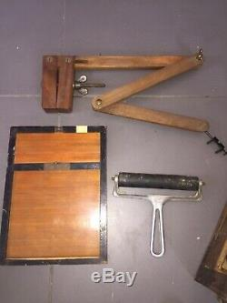 Lot d'appareils photos soufflé anciens chambre photo en bois anciens