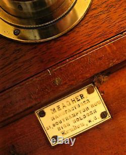 MEAGHER MAHOGANY 1/1 plate TAILBOARD CAMERA c. 1875/1880 POTENTIAL STEREO CAMERA