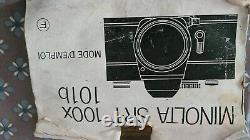 MINOLTA SR T 101 APPAREIL PHOTO ARGENTIQUE ANCIEN + zoom 135
