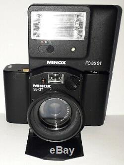 MINOX 35 GT + FLASH FC35ST+ PARE-SOLEIL ET ÉTUIS Testés