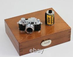 MINOX Classic Camera Leica 3f neuf dans sa boite en bois Vers 2000