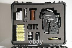 Mint Bolex H16 SBM Super 16 kit with Kern RX Lenses SERVICED CAMERA & LENSES
