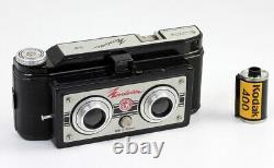 NORDET 3-D Stereo Vredeborch Images de 55 x 40 mm Film 127 Allemagne 1948