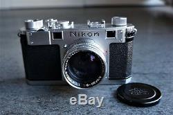 Nikon S + Etui + Boite + Documents Originaux Tres Rare