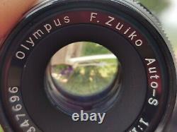OLYMPUS PEN F demi format 35mm avec ZUIKO AUTOS 1,8/38mm