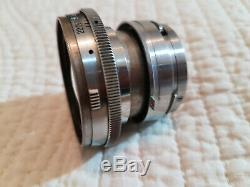 Objectif Carl Zeiss Jena Sonnar 12 f= 5cm 50mm