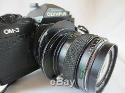 Olympus Om-3 mit Zuiko SHIFT 2.8/ 135mm Objektiv TOP Kamera