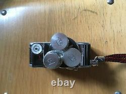 PAILLARD BOLEX D8L 8mm CINE CAMERA +3 OBJECTIFS BERTHIOT