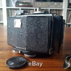 PLAUBEL Makina I + lens Anticomar 3.2 10cm 100mm + film holder 6x7