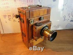 Petite Chambre photographique en bois 9x12