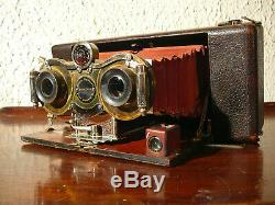 RARE BLAIR Hawkeye antique Stéréo camera Model N°2