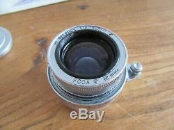 RARE FOCA OPLAREX 50mm 1.9 + Bouchons avant et arriere