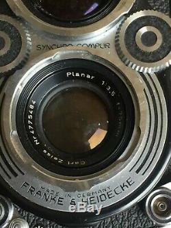 ROLLEIFLEX 6X6 CARL ZEISS Planar 13,5 75 mm Heidosmat 75mm/2,8 1953