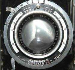 ROYER FRANCE FOLDING 6x9 ANGENIEUX PARIS 3,5/100 MM TRES BON ETAT