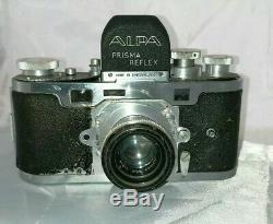 Rare Appareil photo Alpa Prisma Reflex. Objectif Old Delft Alfinon 2.8f50
