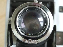 Rare Ross Ensign Autorange 820 6x9 folding camera ROSS XPRES 105/3.8 with case