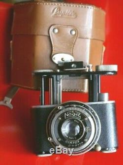 Rare, Superbe NAGEL Pupille Elmar 5 cm, SPECIAL pour MEGOFLEX + box + étui + pied