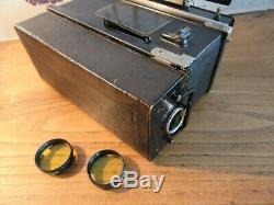 Rare appareil stereoscopique stereo panoramique Summum de Louis Leullier TESSAR