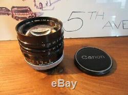 Rare objectif ultra lumineux Canon Super Canomatic R F1,2 / 58mm Canonflex