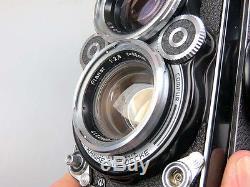 Rolleiflex 2,8F m. Zeiss Planar 2,8/80 + Prismensucher Rolleinar Rolleifix rw009
