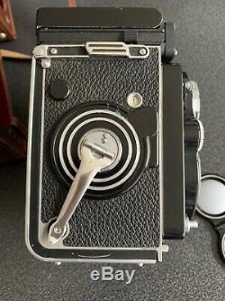 Rolleiflex 3.5f Xenotar White Face with light meter! Rare