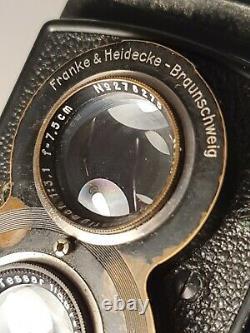 Rolleiflex Old Standard K. 2 622 Zeiss Tessar 75mm f/3,8 Rollei Case & Filters