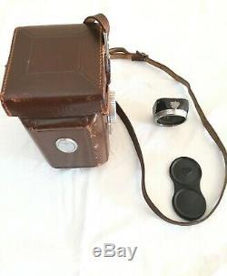 Rolleiflex T Carl Zeiss Tessar+ lens hood+strap+case tested