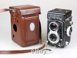 Rolleiflex T, Nr. T 2222057, mit Zeiss Tessar 3,5/75 mm + Tasche rb003