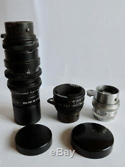 SUPERBE Caméra 16mm MAGAZINE CINE KODAK + Notice Valise & 3 Objectifs