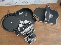 SUPERBE Caméra 16mm PAILLARD BOLEX + Valise, poignée & 3 Objectifs KERN