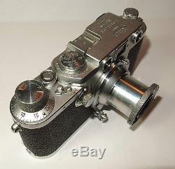 Schraubleica Sucherkamera Kamera Leica III f von 1951 Seriennummer 556570