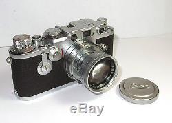Schraubleica Sucherkamera Kamera Leica IIIf v. 1954 Seriennummer 695755