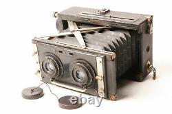 Stereax camera by Nettel Kamerawerk with Eurygraphe N°4 serie IIb f/6-100mm