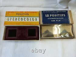 Stéréoscope + 32 boites stéréoscopiques + 19 boites stereocolor Bruguiere