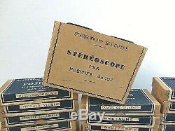 Stéréoscope BRUGUIERE + 34 boites stéréoscopiques +