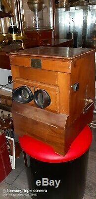 Stereoscope Planox Antique 1910/1920 photographie relief visionneuse acajou 3D