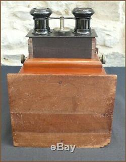 Stéréoscope en Bois Acajou 45x107 Visionneuse Stéréo Auto Classeur Lucien Bize