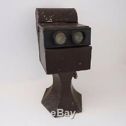 Stéréoscope, visionneuse Gaumont Paris Numéro 5956 en métal brun givré