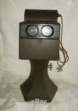 Stéréoscope visionneuse Gaumont Paris métal brun Complète c. 1920
