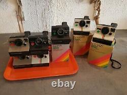 Superbe lot 7appareils photos polaroid sx 70