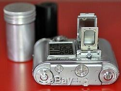 TESSINA 35 mm SUB MINIATURE SWITZERLAND AVEC MOTEUR MÉCANIQUE 10 VUES