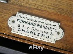 TRÈS BELLE CHAMBRE PHOTO ½ PLAQUE (13X18) FERNAND RENOIRTE à CHARLEROI