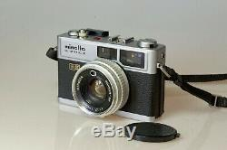 Télémétrique MINOLTA HI-MATIC E avec Rokkor 40 mm 11,7 Exc++ Testé avec film